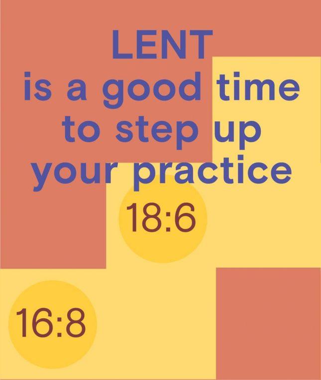 lent intermittent fasting
