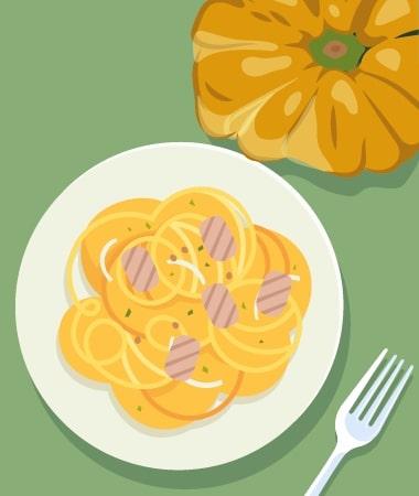 Easy Paleo Creamy Garlic Chicken Spaghetti Recipe