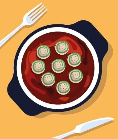 Low Carb Zucchini Lasagna Rolls