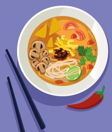 Low Carb Tom Yum Zoodles Soup